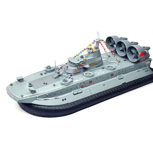 Picture of Brushless Warship RC Boat 2.4G 1/110 Ship Model HG-C201 Landing and water Air Cushion Landing Craft